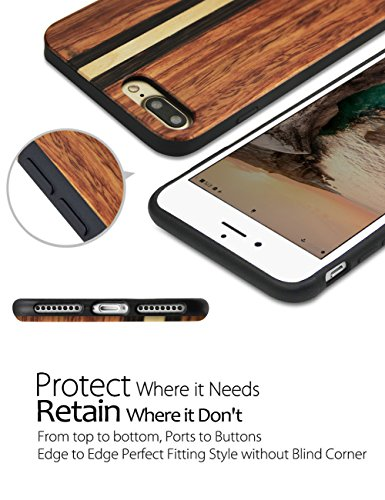 iPhone 7 Case, YFWOOD Bois Naturel Housse Texture Etui pour iPhone 7, 2# 2nd