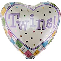 Twins! Colorful Pastel Heart Shaped 18 Mylar Balloon by Balloon preisvergleich bei billige-tabletten.eu