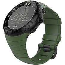"""MoKo Banda de Reloj para Suunto Core, Clásico Reemplazo Suave Puño/Pulsera con Cierre de Metal para Suunto Core Smart Watch, se Ajusta a la Muñeca de 5.51 """"-9.06"""" (140mm-230mm), Verde del Ejército"""