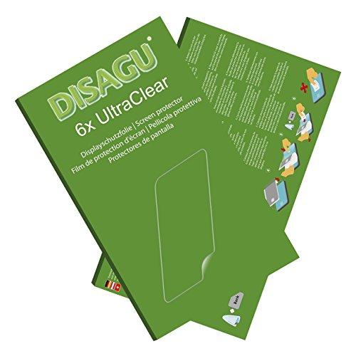 Disagu Endubro I5 Plus Displayschutzfolie - 6X Ultra Clear Schutzfolie für Endubro I5 Plus (verkleinerte Folie)