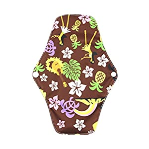 Healifty Bamboo Cloth Menstrual Pads Heavy Flow Sanitary Napkins Washable Reusable Sanitary Towel 25 x 18cm (Multicolor)