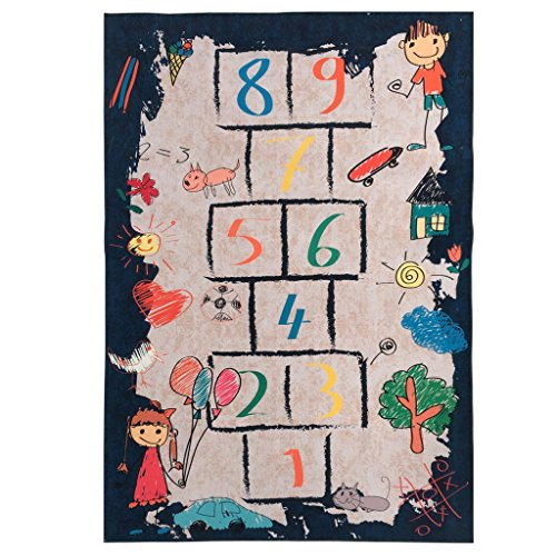 Li Jian Limited company Puzzle Lernen Kinderzimmer Teppich Himmel und Hölle Spiele Kinderzimmer Teppiche waschbar umweltfreundliche Teppiche (Size : 120 * 160cm) -