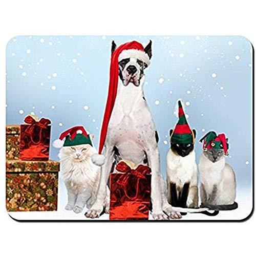 Mouse Pad Hunde Katzen Neujahr Urlaub Kostüme Mauspad Mauspad Mauspads Spielmatte (Großer Hunde Urlaub Kostüm)