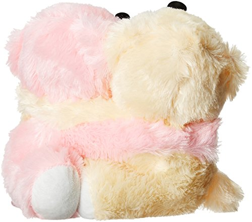 Dimpy Stuff Dimpy Stuff Light Pink and Cream Bear Couple Soft Toy, Pink