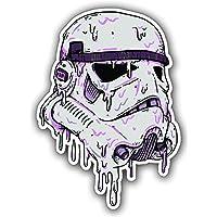 STAR WARS Melting Stormtrooper adesivi adesivi, per Skateboard, Snowboard, Scooter, BMX, Mountain bikes, computer portatili, iPhone, iPod, chitarre ecc. by ONEKOOL