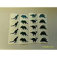 25 x Hi viz stickers green dinosaur mixed stickers for cycle bike motorbike backpack helmet fairies
