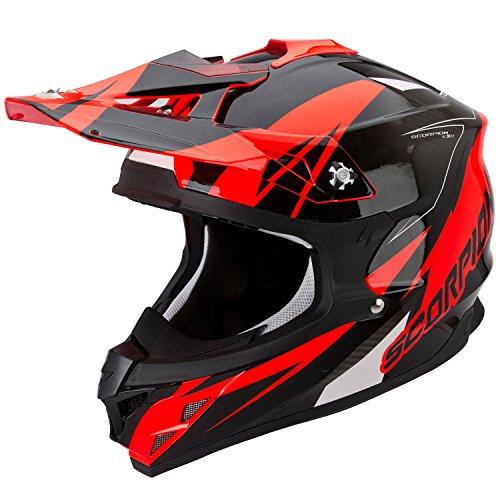 Scorpion Helm, Mehrfarbig (Krush Rot), M