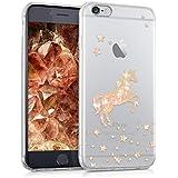 kwmobile Hülle für Apple iPhone 6 / 6S - TPU Silikon Backcover Case Handy Schutzhülle - Cover klar Einhorn Design Rosegold Transparent