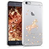 kwmobile Hülle für Apple iPhone 6 / 6S - TPU Silikon Backcover Case Handy Schutzhülle - Cover klar Einhorn Design Rosegold Transparent