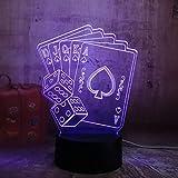 Nachtlicht Spaß Würfel Poker Spielkarten Spiel Party 3D Nachtlicht Led Tisch Schreibtisch Schlaf Lampe Wohnzimmer Dekor Spielzeug Geburtstagsgeschenk @ C_Touch_One_7_Color