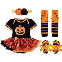 iefiel vestido calabaza para halloween cosplay conjunto pelele body disfraz infantil para beb nia banda