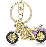 TUDUDU Increíble Motocicleta Llaveros Keychains Esmalte Crystal Key Llaveros Porta Anillos Coche K311