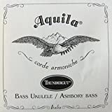 Aquila 68U Bass Ukulele Strings Thundergut, GDAE, Tuning Stability [Set of 4] White
