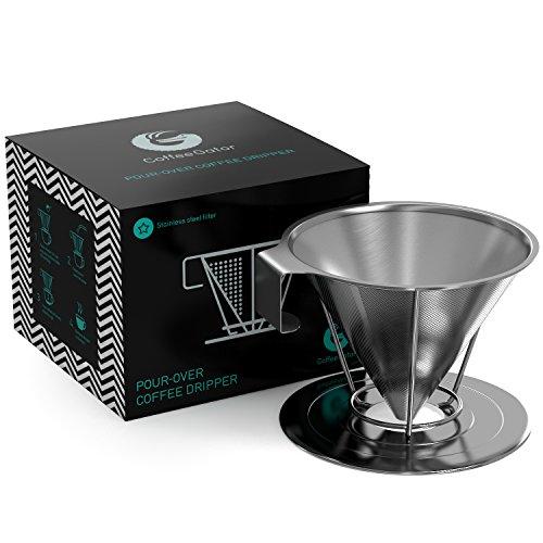 Wiederverwendbarer Kaffeefilter aus Rostfreiem Konischen Stahl - Einzigartiger Filter für Kaffee...