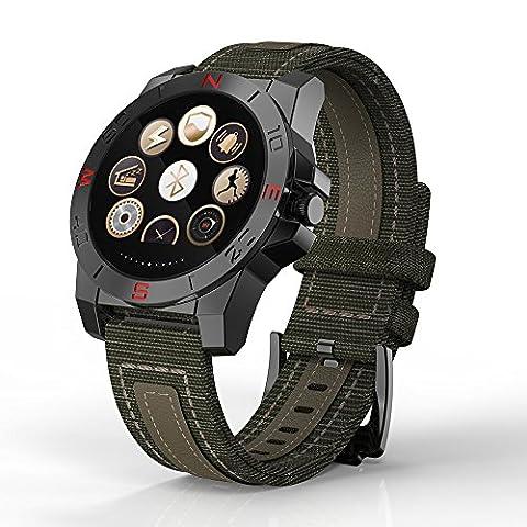 Montre téléphone avec Smart Téléphone Ksiweu10wrist Watch écran support 128m Corps mémoire Entièrement Compatible montre de sport moniteur de cœur et Smart Phone