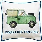 Emma Bridgewater perros como conducir 30x30 Cojín