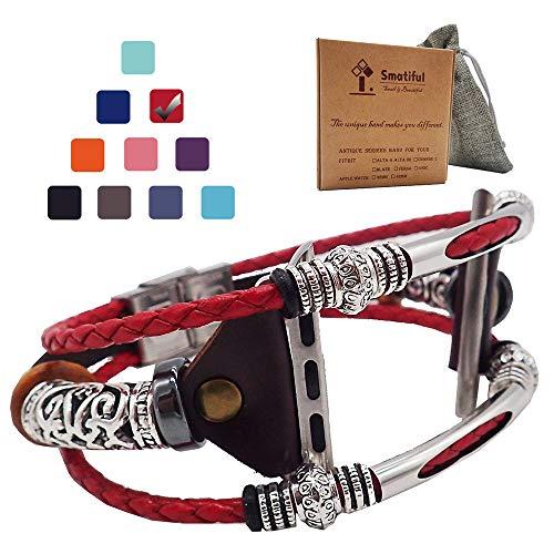 Smatiful Cinturino per Donna Un Uomo, Adjustable Replacement Accessori Sport Braccialetto per Apple Watch Series 1,2,3 38mm &...