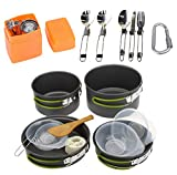 Outdoor Portable Camping Set Pot Picnic Tableware Hiking 2-3 People