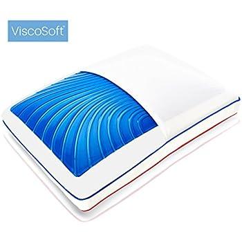 ViscoSoft SEASONSENSE : Oreiller gel à mémoire de forme et réversible, alternatif duvet, tissu COOLMAX® lavable en machine (60 x 40 cm)