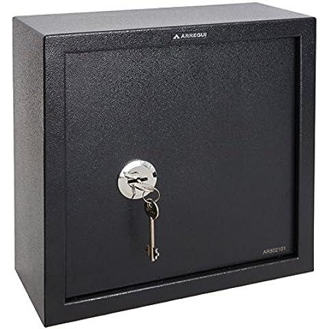 Arregui Class - Caja fuerte camuflada para fondo de armario (acero, 350 x 350 x 150 mm) color gris