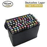 tongfushop 80 Farbige Graffiti Stift Fettige Mark Farben Marker Set,Twin Tip Textmarker Graffiti Pens für Sketch Marker Stifte Set Mit (Deutsche Lieferung)