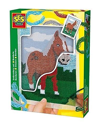 Ses - 00867 - Loisir Créatif - Set de Broderie Cheval