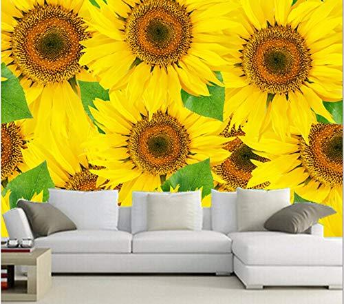 Kuamai Murales Personalizados En 3D Murales, Hermosa Romántica Flor De Sol Murales Fondos De Pantalla, Sofá De La Sala De Estar Dormitorio Fondo De Pantalla-450X300cm