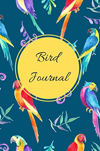 Bird Journal: A Watercolor Green Themed Bird Watching Logbook, Notebook, Journal, Diary And Guide Perfect For Birders And Birdwatchers, Great For Adults And Kids - Forest Green Bird Feeder