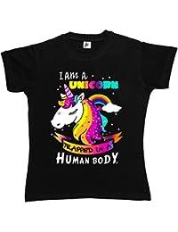 Fancy A Snuggle I Am A Unicorn Trapped In A Human Body Womens T-Shirt