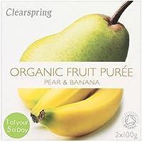 Clearspring orgánico pera y plátano Puré de 2 x 100 g