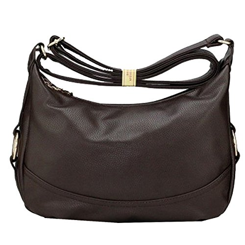 Borsa Yy.f Pannolino Molli Delle Donne Sacchetto Di Cuoio Il Sacchetto Della Femmina Di Mezza Età Lair Bag Messenger Pacchetto Anziani Di Grande Capacità Il Colore 4 Black