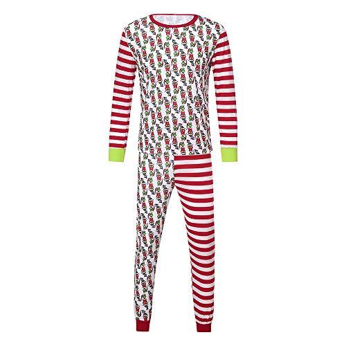 Riou Weihnachten Set Baby Kleidung Pullover Pyjama Outfits Set Familie Familie Passenden Weihnachten Pyjamas Set Frauen Kind Papa Erwachsene PJs Fun Nachtwäsche (M, Dad)