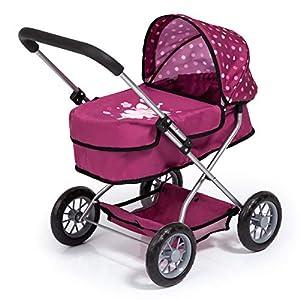 """Bayer Design Cochecito Smarty"""" -Carro de muñecas, Color Burdeos, Rojo 12267AA"""