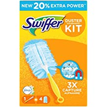 Swiffer Duster Attrape & Retient, Parfum Febreze, Kit de Dépoussiérage (1 Manche et 4 Recharges)