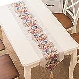 HmDco Europäische moderne Tabelle Runner TV Schränke Dekoration, Blütenstände von Reis, 32 * 180 cm