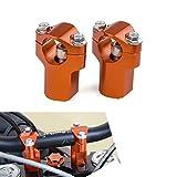 H2RACING 28MM Orange Motorrad Lenkerklemme Lenkerhalter Lenkererhöhung Montageadapter für K-T-M 690 Enduro/R/SMC/SMCR/ABS,300/500 EXC/350 EXC-F,125-530cc SX/SX-F/XC,1190 Adventure/R/ABS,1050/1250