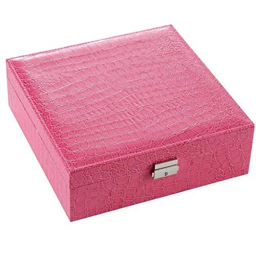 e Watch Box Schmuck Aufbewahrungsbox Leder Aufbewahrungsbox-Rosa ()