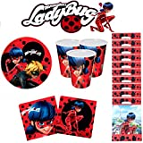 Ladybug Miraculous Kit de Cumpleaños para fiesta 10 Personas