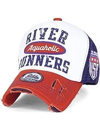 "ililily Baseballkappe: ""RIVER RUNNERS Aquaholic"" Aufdruck, klassischer Stil, Truckerkappe, Hut, Baseball Cap"