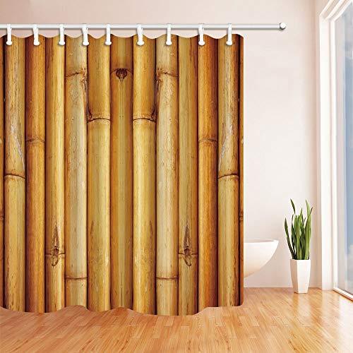 Nyngei 3D Bambus Wald Duschvorhang 180X180 cm Mehltau Resistant Polyester Stoff Fantastische Dekorationen Bad Haken