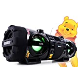 AEG Stereoanlage Soundbox Ghettoblaster Boombox CD MP3 Bluetooth Radio mit Winnie Pooh Sticker