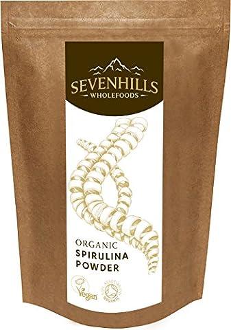 Sevenhills Wholefoods Spirulina-Pulver Bio 250g (Mangan 250 Tabletten)