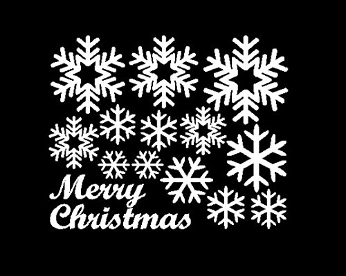 Zolimx Fenster Aufkleber Engel Schneeflocke Weihnachten Vinyl Kunst Dekoration Abziehbilder (Weiß) (Paare Kostüme Diy)