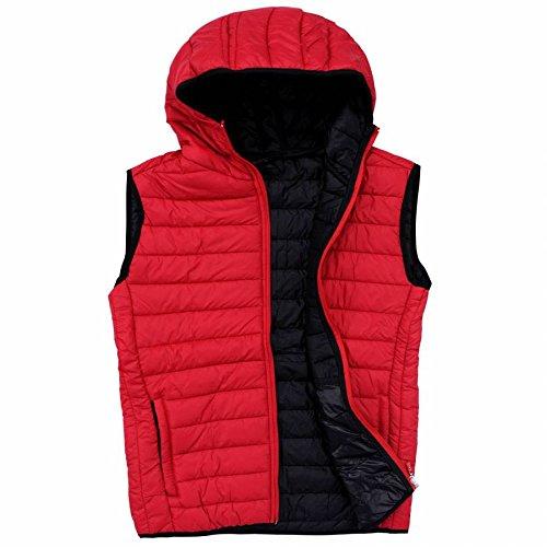 EXUMA Uomo Abbigliamento sportivo aufge bolle Occidente rosso