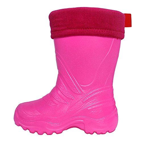 LEMIGO Kinder EVA Gummistiefel gefüttert leicht TERMIX 861 (24/25, pink)