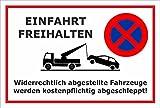 Schild Park-verbot - Parken verboten - Einfahrt frei-halten - 30x20cm | stabile 3mm starke Aluminiumverbundplatte – S00020G-B +++ in 20 Varianten erhältlich