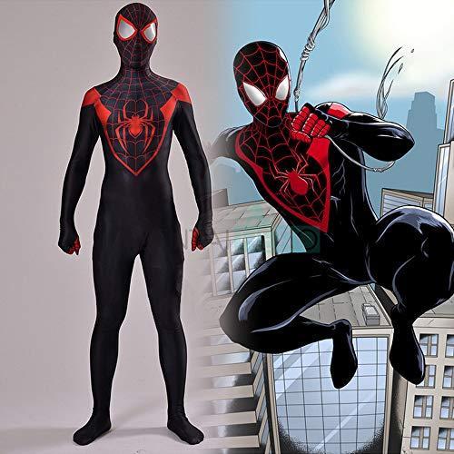 Ultimativer Schwarzer Spiderman Kostüm Halloween Kostüm Cosplay Overall 3D Print Spandex/Lycra Erwachsenen Kind Kostüm,Women-XXXL