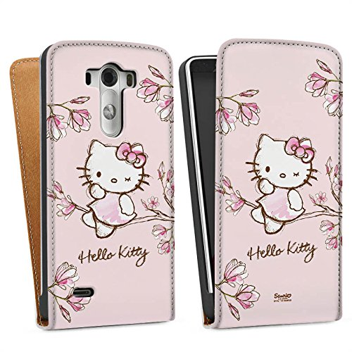 LG G3 Tasche Hülle Flip Case Hello Kitty Merchandise Fanartikel Magnolia (Hello Kitty Cases Für Lg G3)