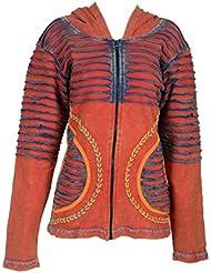 Multicolore coton femmes Cardigan avec de la broderie et Razor conception de coupe