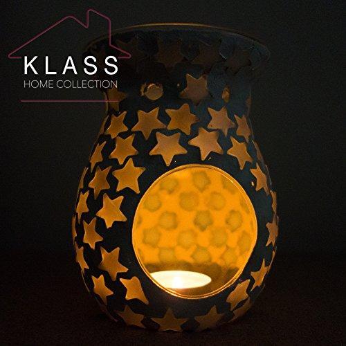 Handmade-Ceramic-Pearl-Stars-Tealight-Holder-Yankee-Tart-Oil-Burner-Warmer